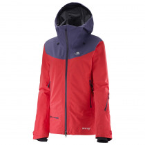 Salomon Qst Charge Gtx® 3l Jacket Women´s Infrared/Daybreak Grey