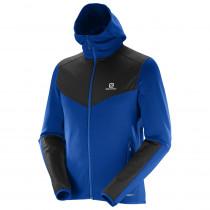 Salomon X Alp Mid Hoodie M Blue Yonder/Black