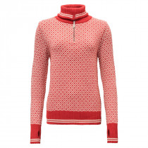 Devold Slogen Woman Zip Neck Chilli
