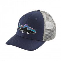 Patagonia Fitz Roy Trout Trucker Hat Classic Navy W/Drifter Grey