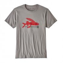 Patagonia M's Flying Fish Organic T-Shirt Feather Grey