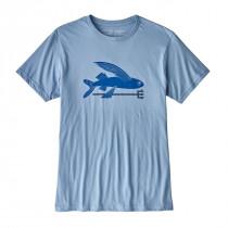 Patagonia M's Flying Fish Organic T-Shirt Railroad Blue