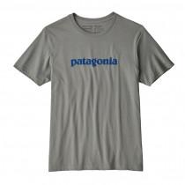 Patagonia M's Text Logo Organic T-Shirt Feather Grey
