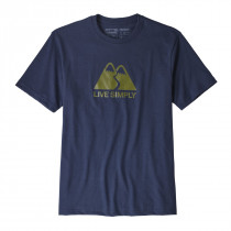 Patagonia M's Live Simply Winding Responsibili-Tee Classic Navy