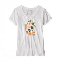 Patagonia Women's Harvest Haul Organic V-Neck T-Shirt White