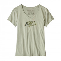 Patagonia Women's Live Simply Sleeping Out Organic V-Neck T-Shirt Desert Sage
