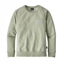 Patagonia Women's Pastel P-6 Label Mw Crew Sweatshirt Desert Sage