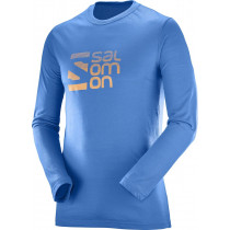 Salomon Pulse LS Tech Tee M Myconos Blue