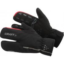 Craft Siberian Split Finger Glove Black/Bright Red