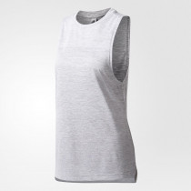 Adidas Boxy Mélange Tank Top Women's White/Clear Onix