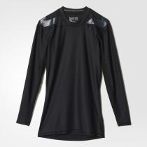 Adidas Techfit Power Long Sleeve Tee Black