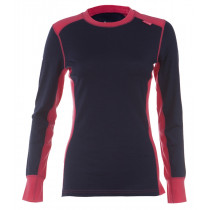 Felines W's Shirt LS 100% Merino Hot Pink/Twilight Blue