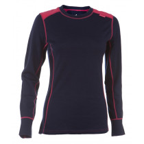 Felines W's Shirt LS 100% Merino Hot Pink/Twilight Blue/Eclipse