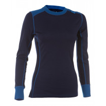 Felines W's Shirt LS 100% Merino Skydiver/Twilight Blue/Eclipse