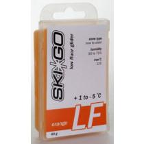 SkiGo LF Orange FluorGlider +1/-5°C alle snøtyper 60g