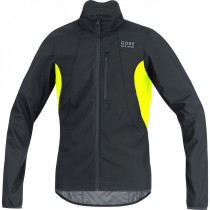 Gore Bike Wear Element Gore Windstopper Jacket Black/Neon Yellow