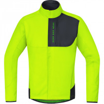 Gore Bike Wear Power Trail Windstopper Soft Shell Thermo Jacket Neon Yellow/Black