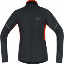 Gore Running Wear Essential Windstopper Active Shell Partial Jacket Black/Orange.Com