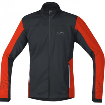 Gore Running Wear Mythos Gore Windstopper Jacket Black/Orange.Com