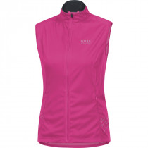Gore Running Wear Mythos Lady 2.0 Windstopper Soft Shell Light Vest Raspberry Rose