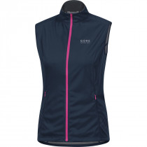 Gore Running Wear Mythos Lady 2.0 Windstopper Soft Shell Light Vest Black Iris/Raspberry Rose