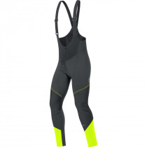 Gore Bike Wear® Element Windstopper Soft Shell Bibtights Black/Neon Yellow