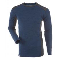Gridarmor Mens's Shirt LS BambWool Blue Melange