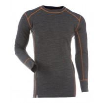 Gridarmor Mens's Shirt LS BambWool Dark Grey Melange