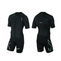 2XU Compression sleeved full zip trisuit herre sort