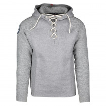 Amundsen Sports Boiled Hoodie Laced Men's Light Grey