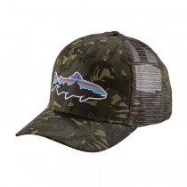 Patagonia Fitz Roy Trout Trucker Hat Big Camo: Fatigue Green