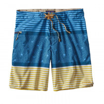 Patagonia M's Stretch Planing Board Shorts - 20 In. Jellyfish Stripe: Big Sur Blue