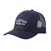 Patagonia P-6 Logo Trucker Hat Navy Blue W/Navy Blue