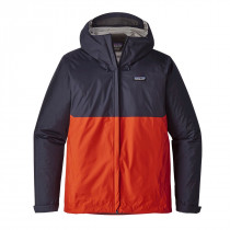 Patagonia M Torrentshell Jkt Navy Blue W/Paintbrush Red