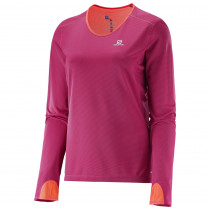 Salomon Trail Runner LS Tee W Gaura Pink/Coral P