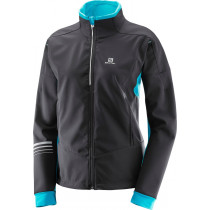 Salomon Lightning Warm Sshell Jkt W Bk/Blue Bird