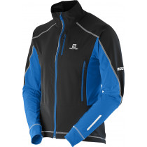Salomon S-Lab Motion Fit WS Jacket Men's Black/White/Bl