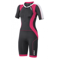 2XU Compression sleeved full zip trisuit dame grå/rosa