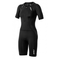 2XU Compression sleeved full zip trisuit dame sort