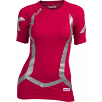 Swix Vistech RaceX bodyw Shortsleeve Womens Bright Fuchsia