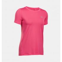 c71a7902 Under Armour Women's HeatGear Armour Short Sleeve Pink Sky/Metallic Silver