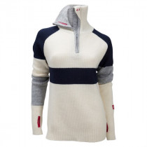 Ulvang Rav Limited Sweater W/Zip Women`s Vanilla/New Navy/Grey Melange