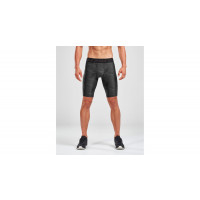 2XU Accel Print Comp Shorts Men Asphalt Charcoal/Nero