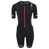 Huub Core Long Corse Tri Suit Sleeved Black/ Pink - dame