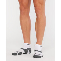 2XU Vectr Light Cushion 1/4 Crew Sock Unisex White/Grey