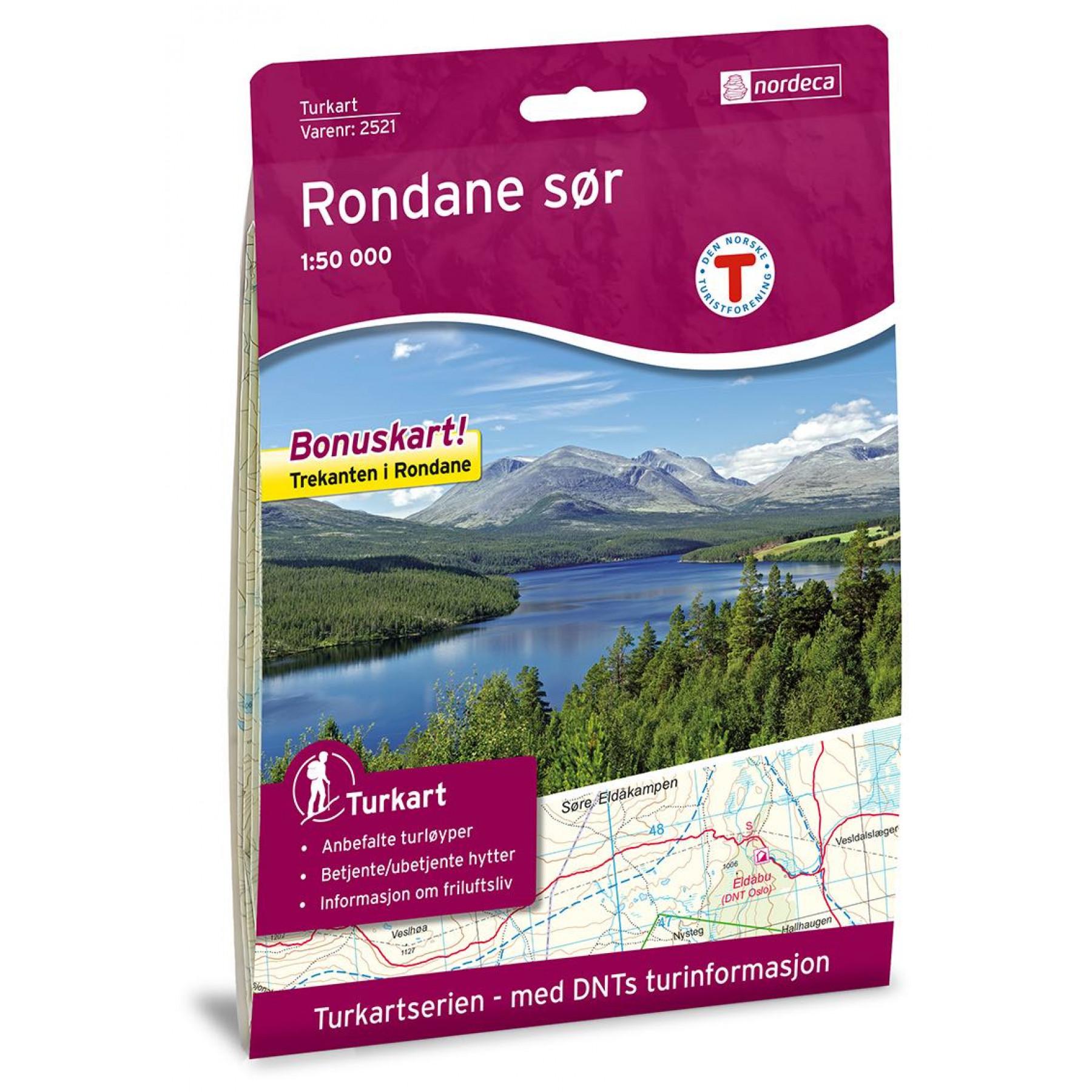 Nordeca Rondane Sor 1 50 000 Turkart Fjellsport No