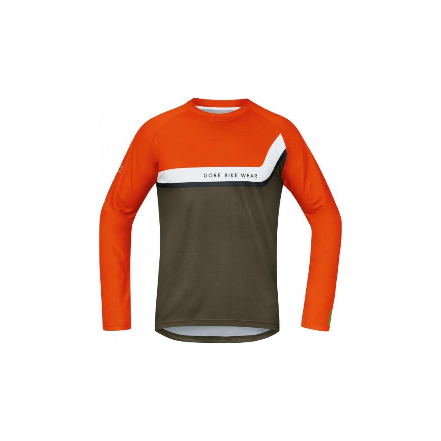 Gore Bike Wear Power Trail Jersey Long Blaze Orange Ivy Green ... 43aa906c3