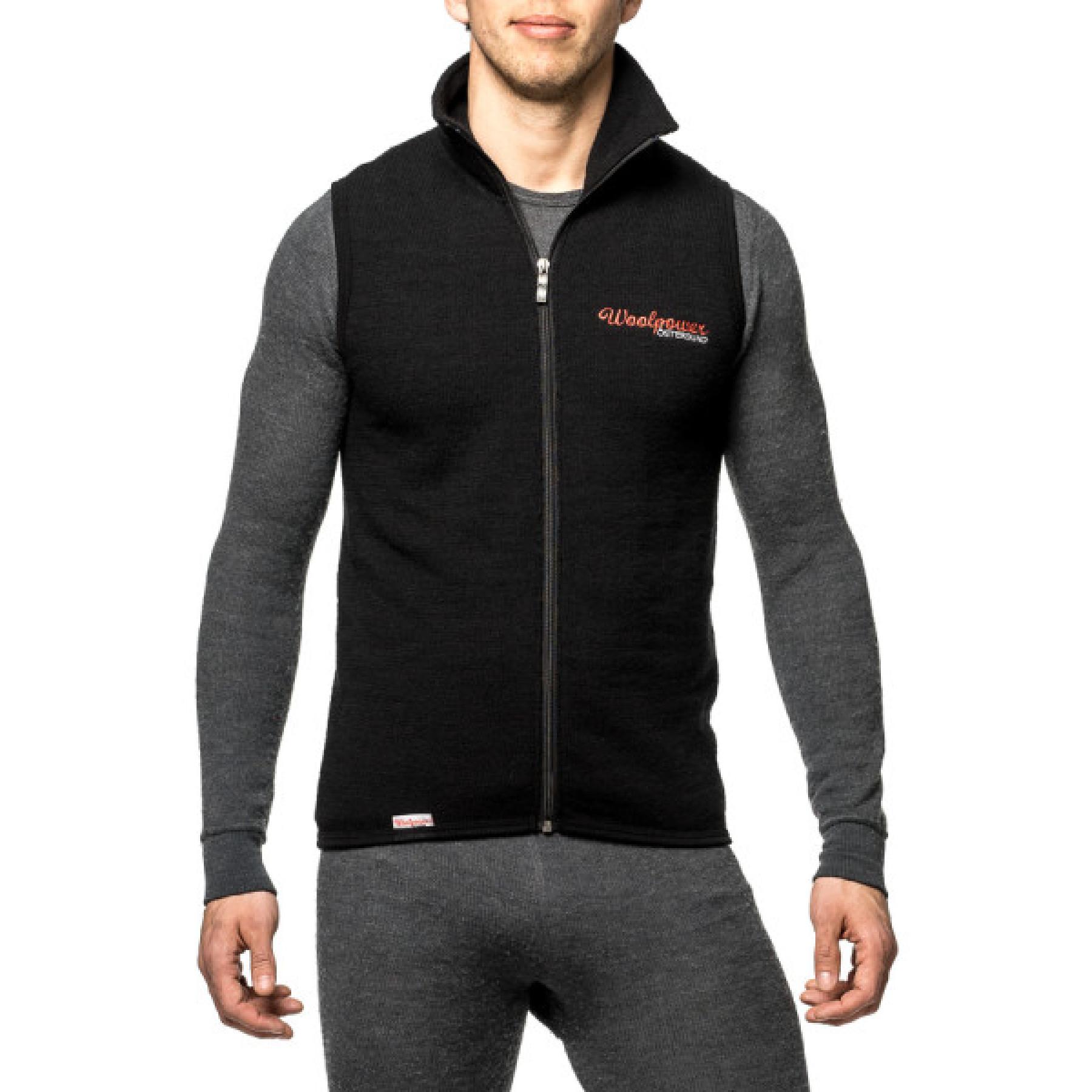 f4a535b5 Woolpower Vest 400 Black | Fjellsport.no