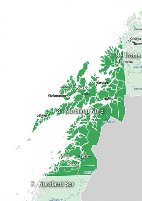 Garmin Topo Premium V3, 8 - Nordland Nord