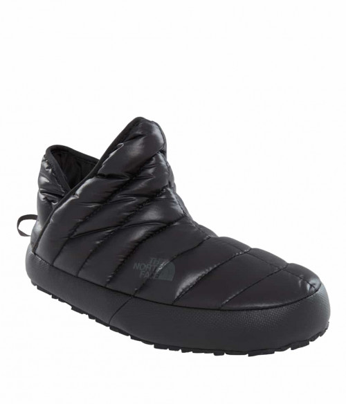 The North Face Women's Thermoball Traction Bootie Shiny Tnf Blck/Beluga Gry